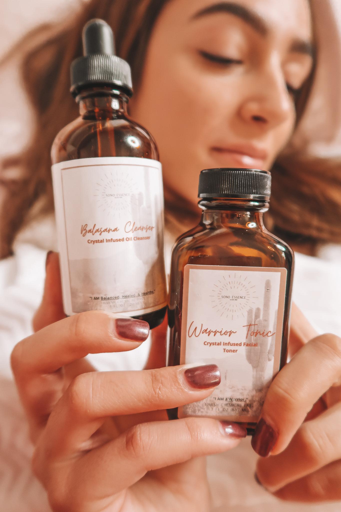 Sono Essence Balasana Cleanser Warrior Tonic Crystal Infused Luxury Skincare