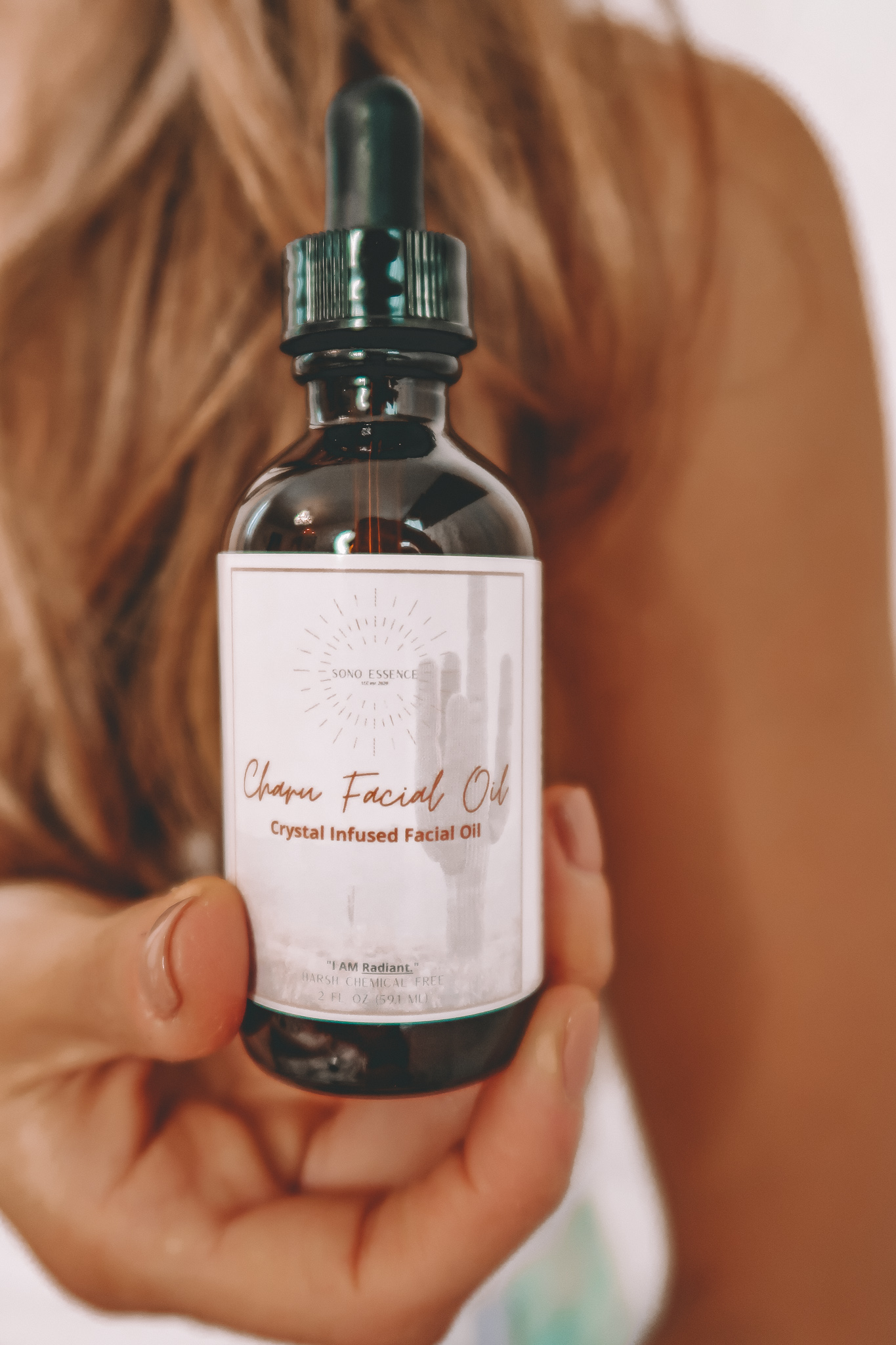 Charu Facial Oil Crystal Infused Luxury Skincare Soon Essence