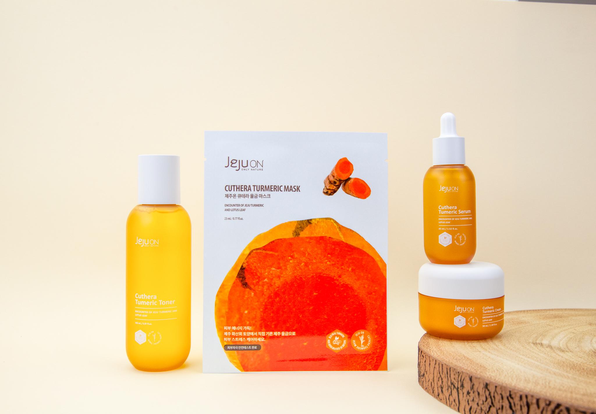 Mask Time Jejuon Korean Beauty Turmeric Anti Ageing Skincare Set