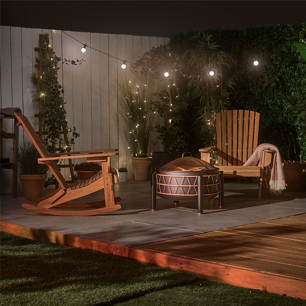 Outdoor Heating Solutions Stylish Copper and Black Fire Pit