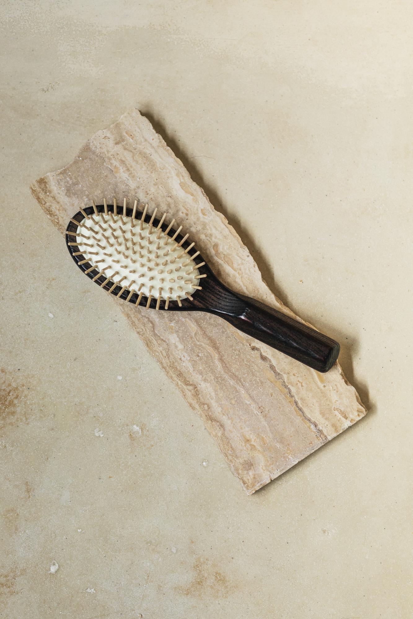 Ash Wood Natural Hair Brush SAYA Designs