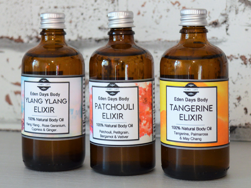 Eden Days Body 100% Organic Natural Luxurious Multipurpose Body Oils Elixirs Essential Oils