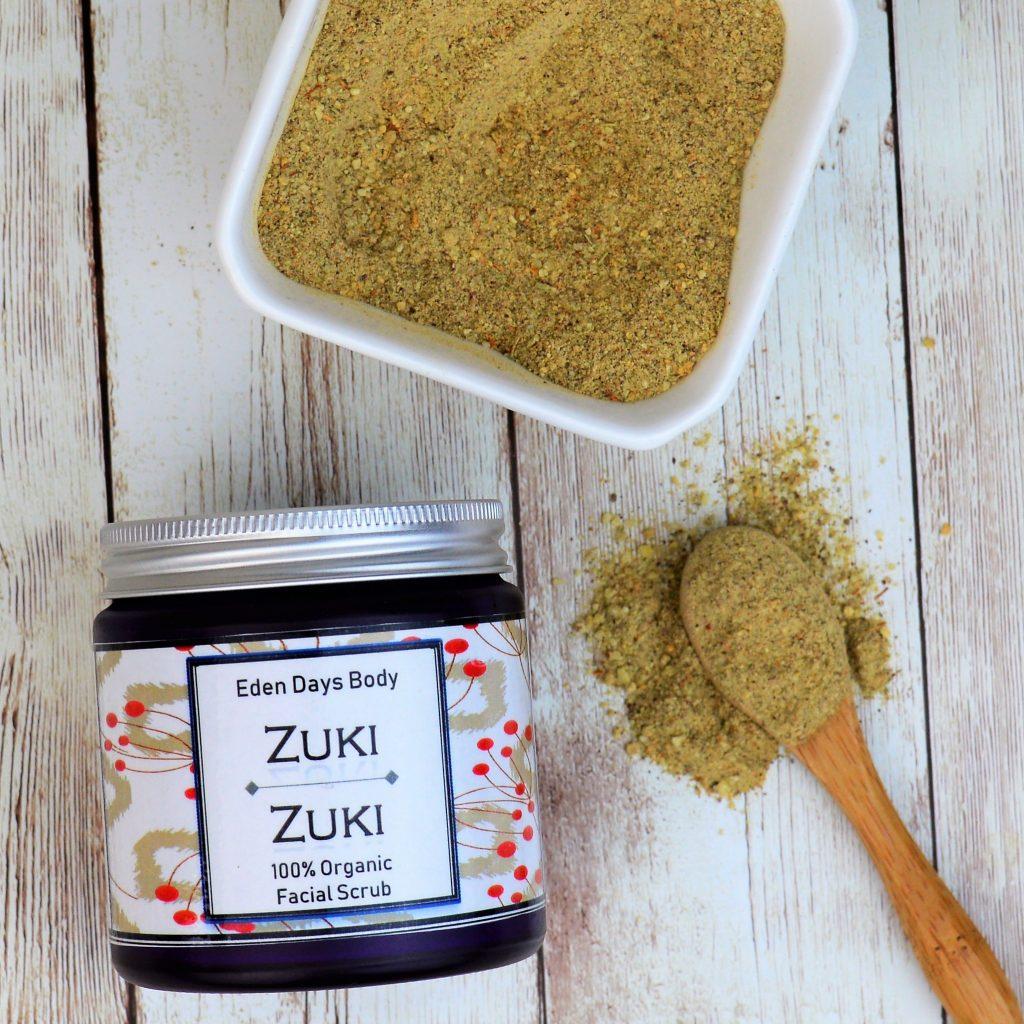 Eden Days Body Zuki Zuki Organic Face Scrub Orange Peel and Baobab