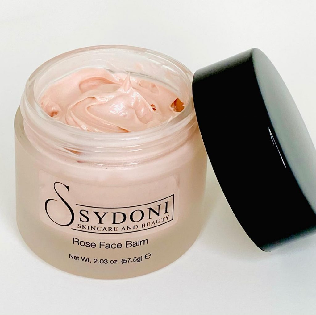 Sydoni Skincare and Beauty Rose Face Balm with Rose Water and Glycerin