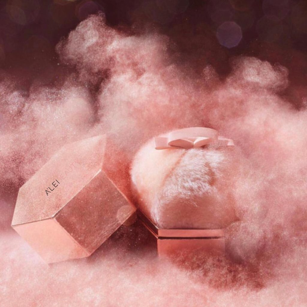 The LoveFluff Body Puff A'Lei Beauty Shimmering Powder Puff Body Highlighter