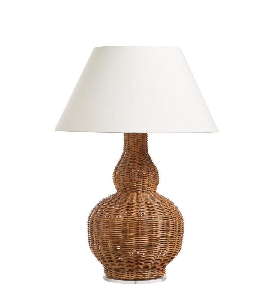 Calabash Rattan Table Lamp Natural Indoor Lighting OKA