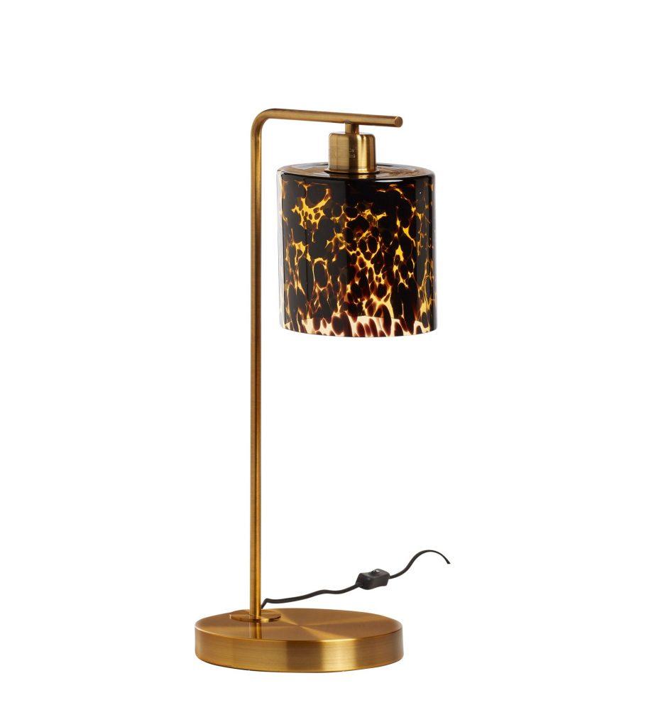 Claudette Table Lamp Tortoiseshell Mouth Blown Glass Iron Luxury Indoor Lighting OKA