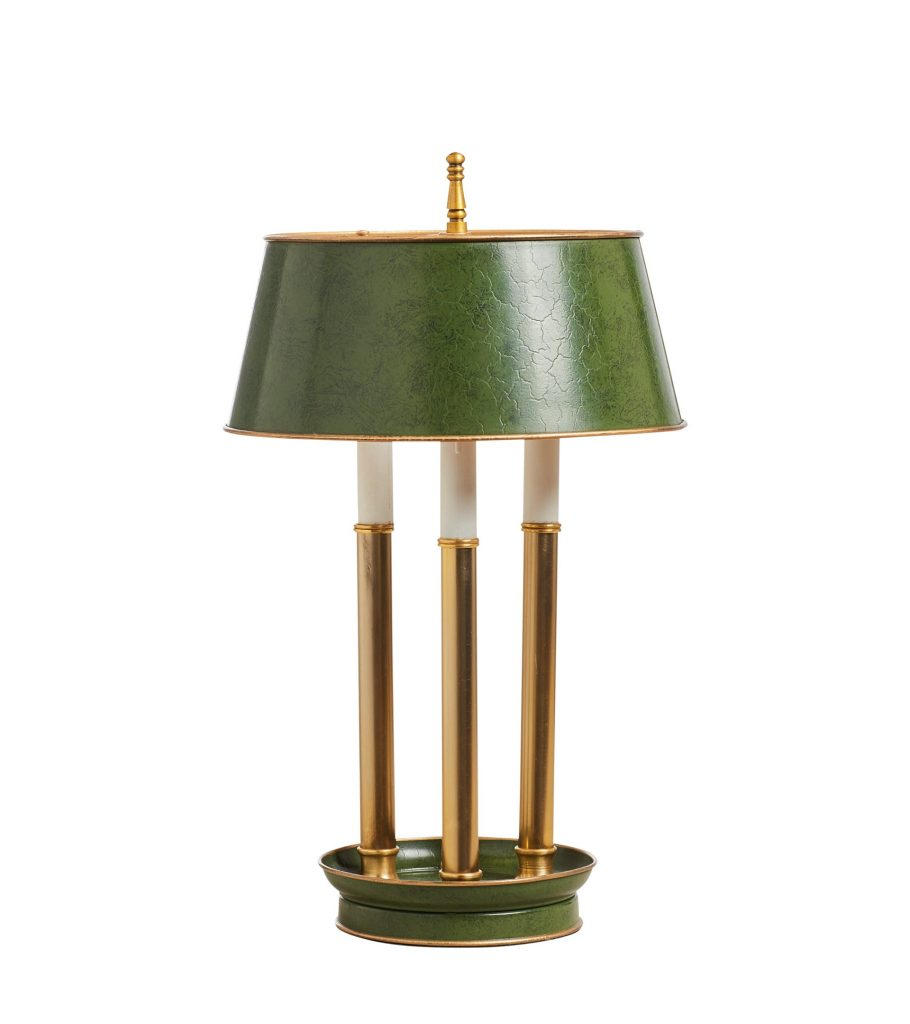 Piquet Table Lamp Moss Iron Brass French Style Indoor Lighting OKA