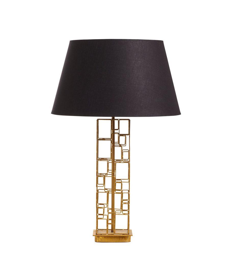 Subura Table Lamp Gold Finish Aluminium Metal OKA